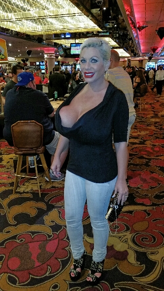 Monster tits whore Claudia Marie on the Vegas strip