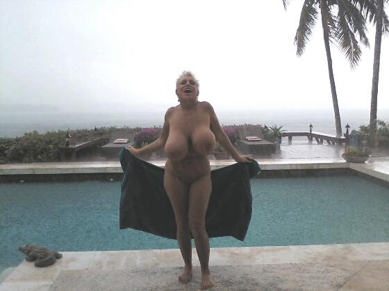 Big boobs at the beach