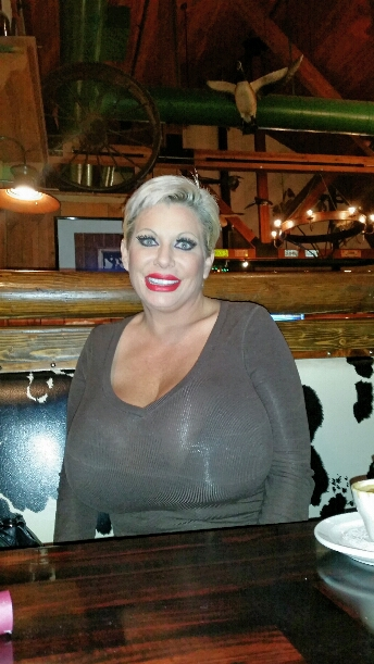 big tits Claudia Marie at dinner