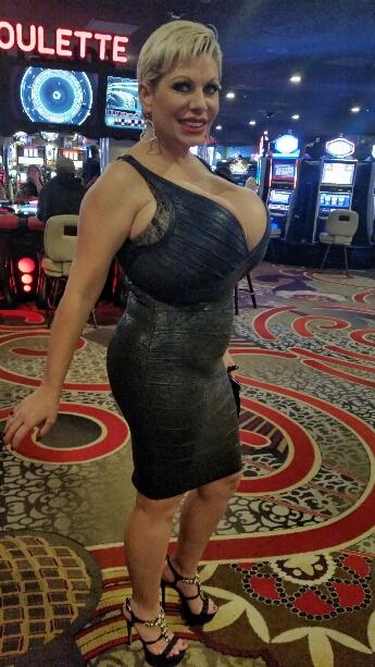Claudia Marie has big floppy fake tits
