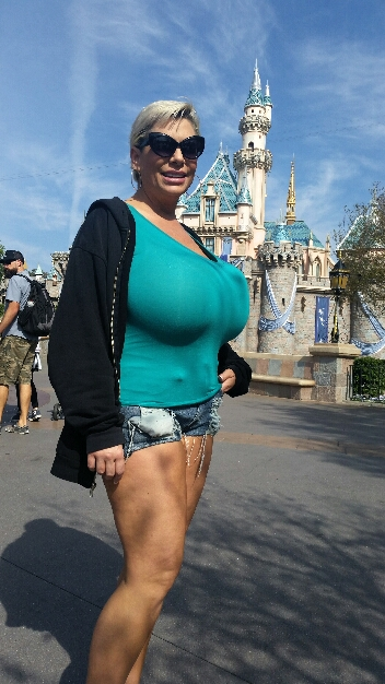 Big boobs at Disneyland