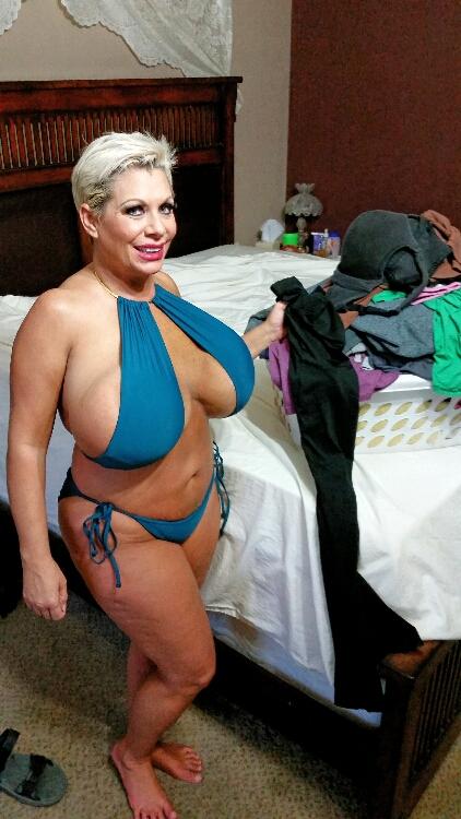 Claudia Marie huge saggy fake tits