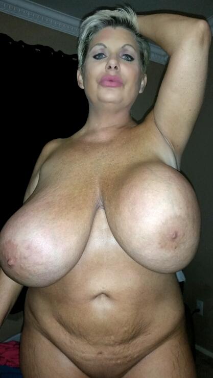 Saggy fake boobs