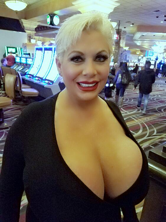 Claudia Marie big fake tits out on display